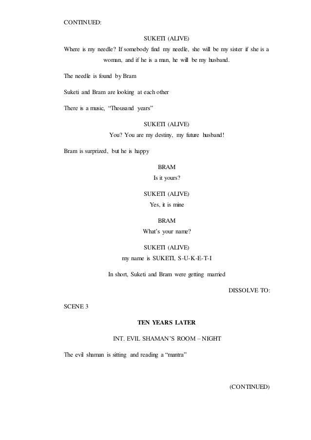 how to write a comedy horror script