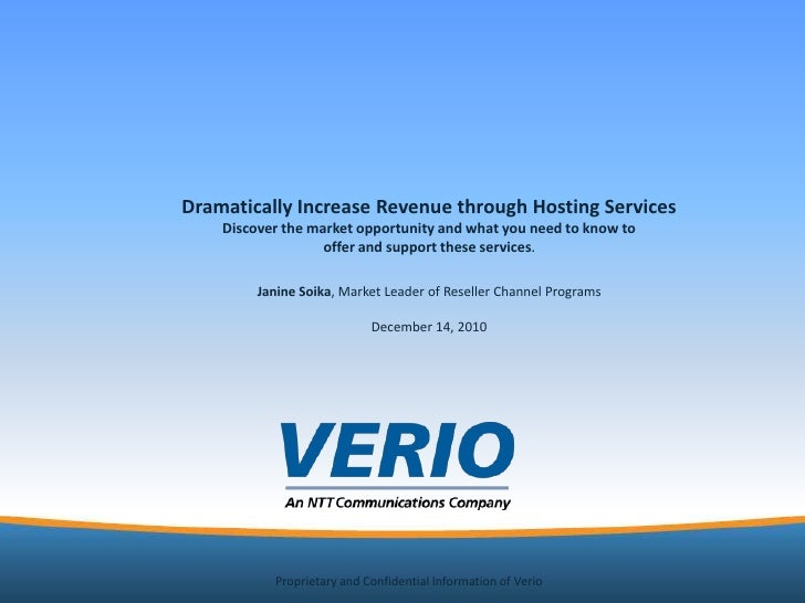 Dramatically Increase Revenue through Hosting Services <br />Discover the market opportunity and what you need to know to ...
