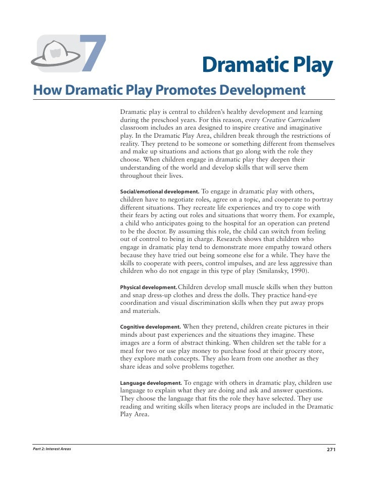 7How Dramatic Play Promotes Development                                                          Dramatic Play            ...