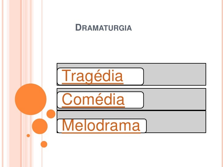 DRAMATURGIATragédiaComédiaMelodrama