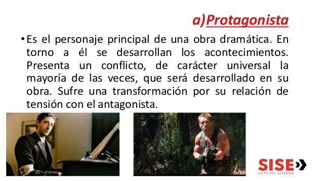 a) Secundario: es aquel que con su fuerza se suma a la del protagonista o a la del antagonista. b) Colectivo: personaje qu...