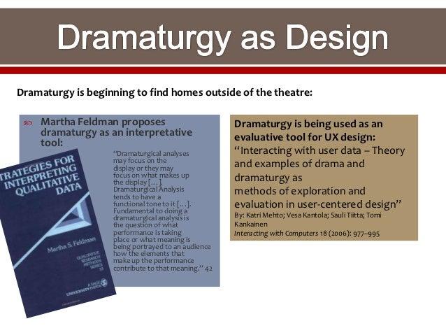 dramaturgical analysis Dramaturgical analysis of social interaction: herbert h blumberg, a paul hare: amazoncommx: libros.