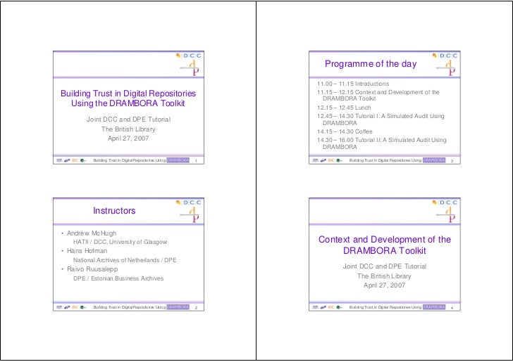 Programme of the day                                                                   11.00 – 11.15 Introductions Buildin...