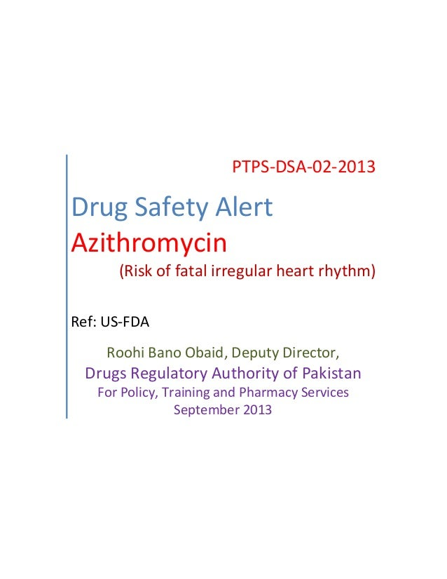 Drug safety alert 2 azithromycin for Roohi bano husband name