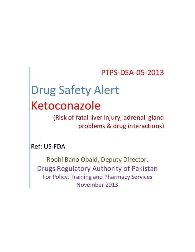 drug safety alert 5 ketoconazole