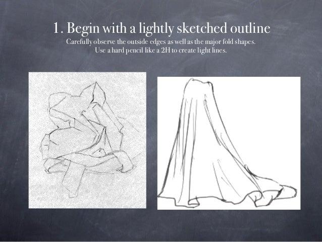 Drapery Study Drawing Slide 2