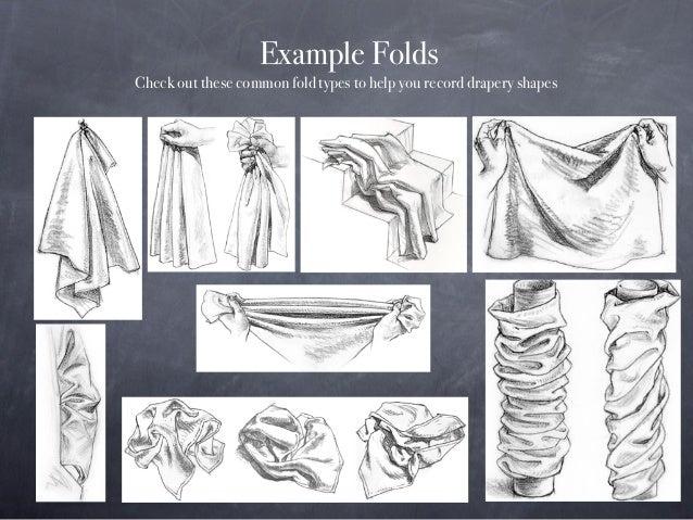Drapery Study Drawing Slide 3