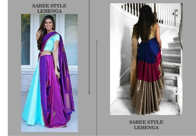 Draping Styles Of Saree And Lehenga
