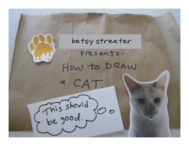 DroolyDog Drawing Lesson: Draw a Cat Slide 2