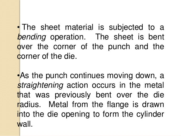As the metal in the flange moves toward the center, it is subjected to the following state of stress: 1- Compression in th...
