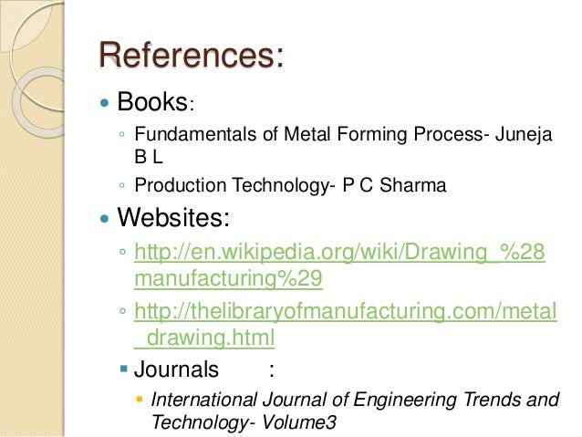 Drawing Processes in Manufacturing