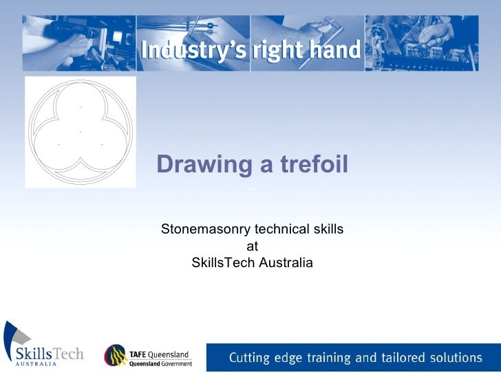 Drawing a trefoil _   Stonemasonry technical skills at SkillsTech Australia