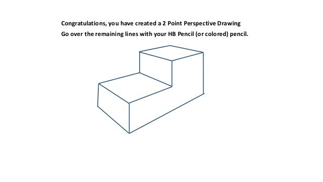 how to draw 2 point perspective step by step