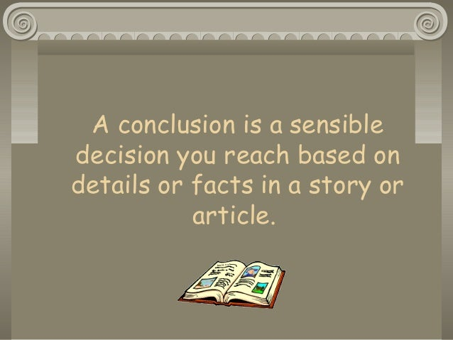 Drawing Conclusions Ppt 2