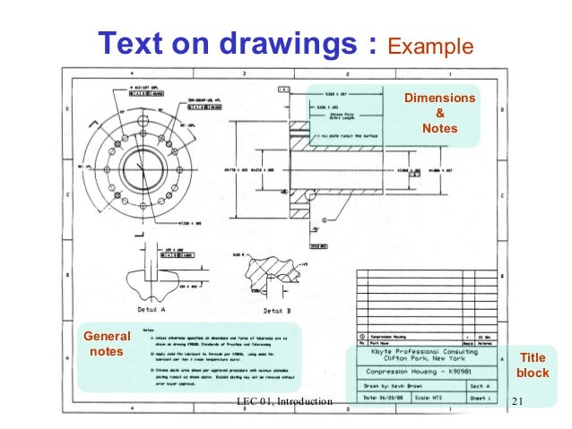 Drawing lec 01 introduction 1 - General notes for interior design drawings ...