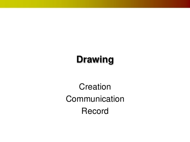 Drawing Creation Communication Record