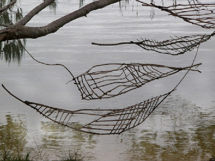 Drawings On The Water   Floating Land 2005   Sticks