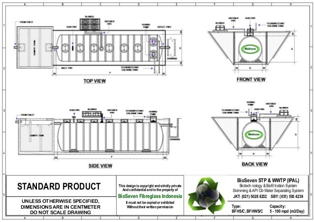 Cara pasang bio septic tank biotech ipal bioseven stp wwtp for Septic system design drawings