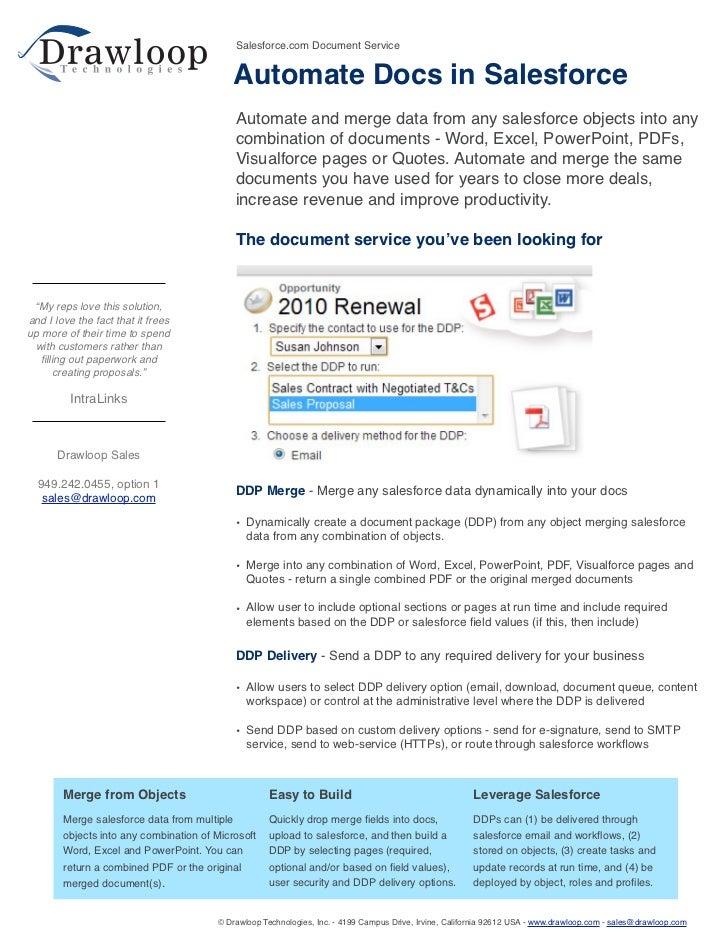 Salesforce.com Document Service                                            Automate Docs in Salesforce                    ...