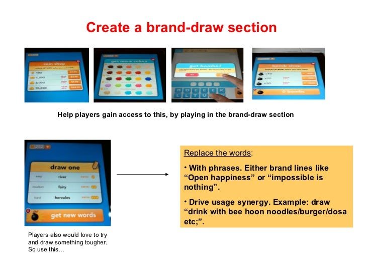 Draw Something Strategic Brand Usage