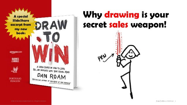 2016 © Dan Roam Digital Roam Inc. All rights reserved. Draw To Win on SlideShare 1 A special SlideShare excerpt from my ne...