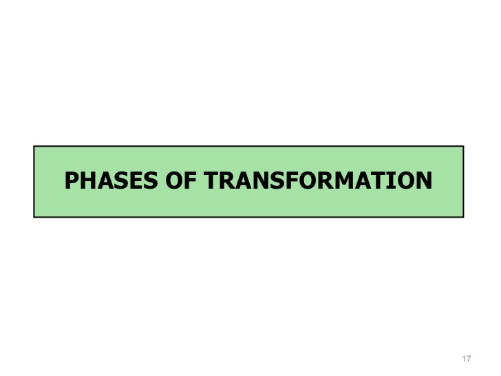 PHASES OF TRANSFORMATION                           17