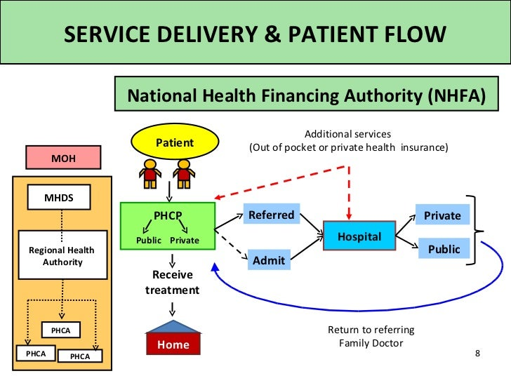 SERVICE DELIVERY & PATIENT FLOW                  National Health Financing Authority (NHFA)                               ...
