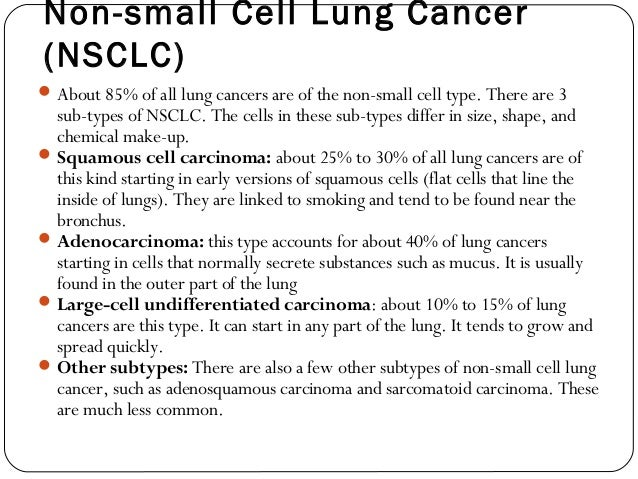 Surgical approach to non small cell lung cancer.