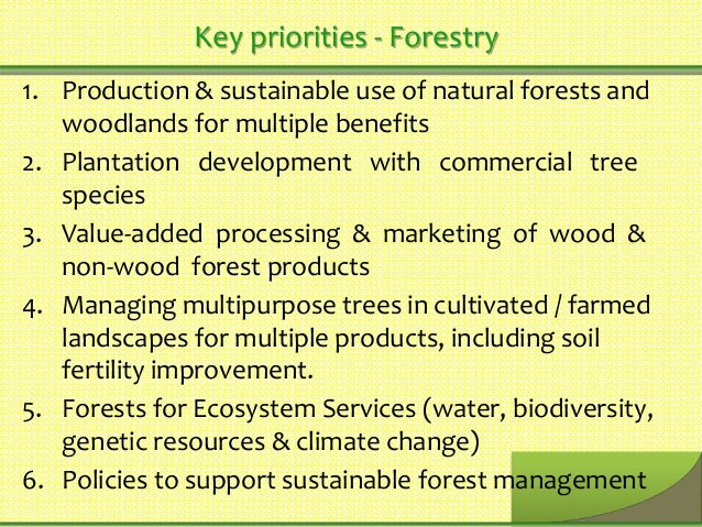 Policy Of Multiple Use Resource Management Of Natural Resources