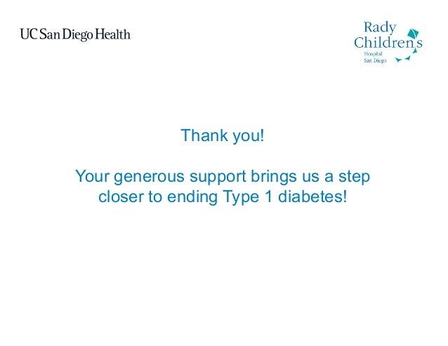 Thank you! Your generous support brings us a step closer to ending Type 1 diabetes!