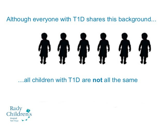 Although everyone with T1D shares this background... …all children with T1D are not all the same