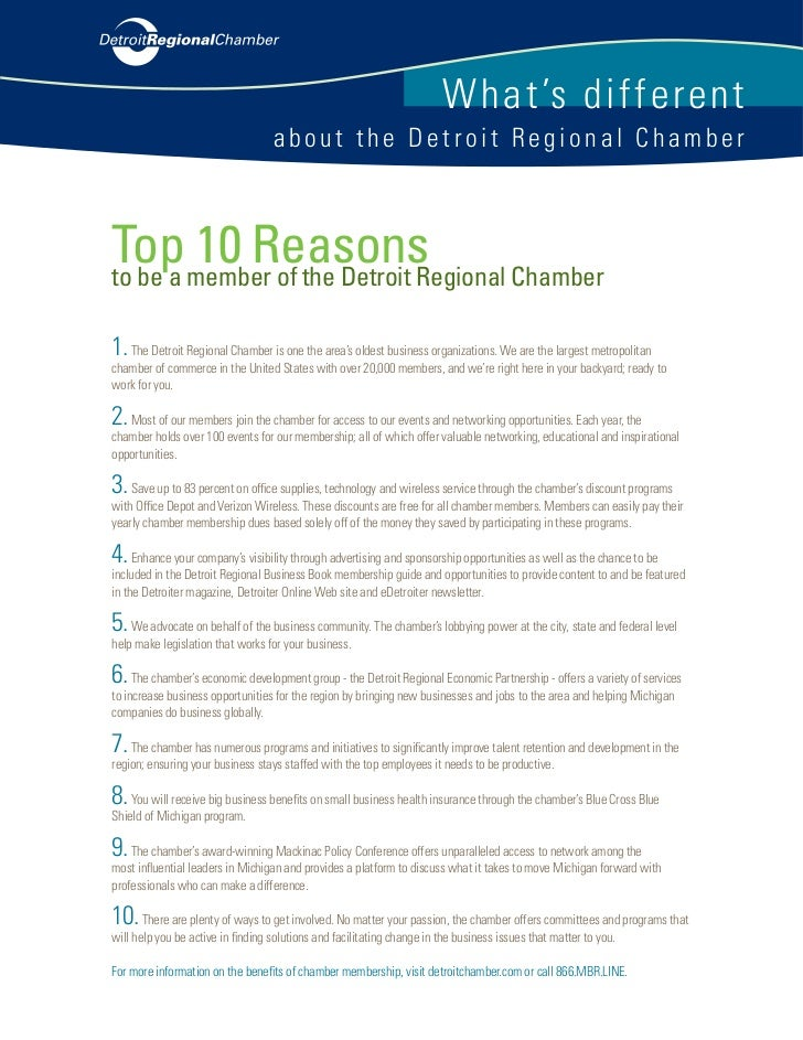 W hat's di ffere n t                                   about the Detroit Regional Chamber    Top member of the Detroit Reg...