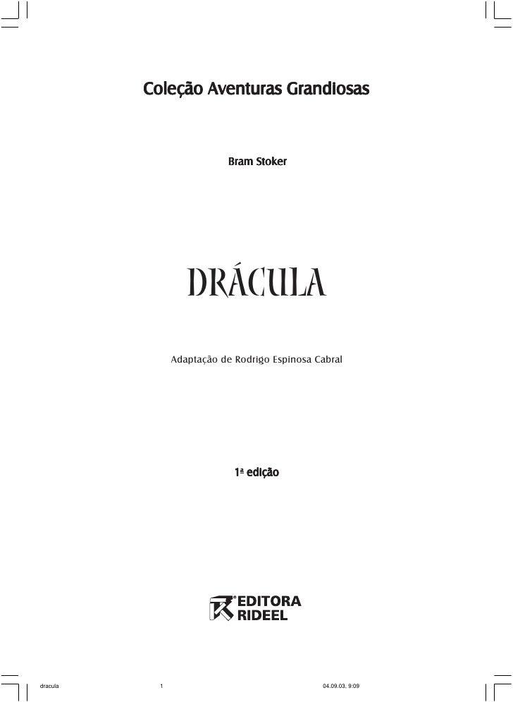 Coleção Aventuras Grandiosas                           Bram Stoker                   DRÁCULA                Adaptação de R...
