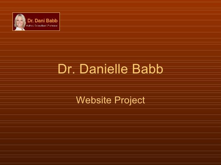 Dr. Danielle Babb Website Project