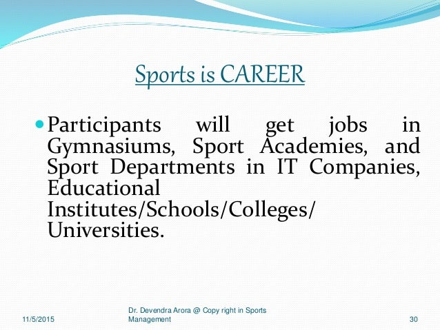 Copy Right @ Dr.Devendra Arora in Course of sports Management