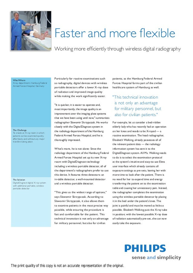 Faster and more flexible                                        Working more efficiently through wireless digital radiogra...