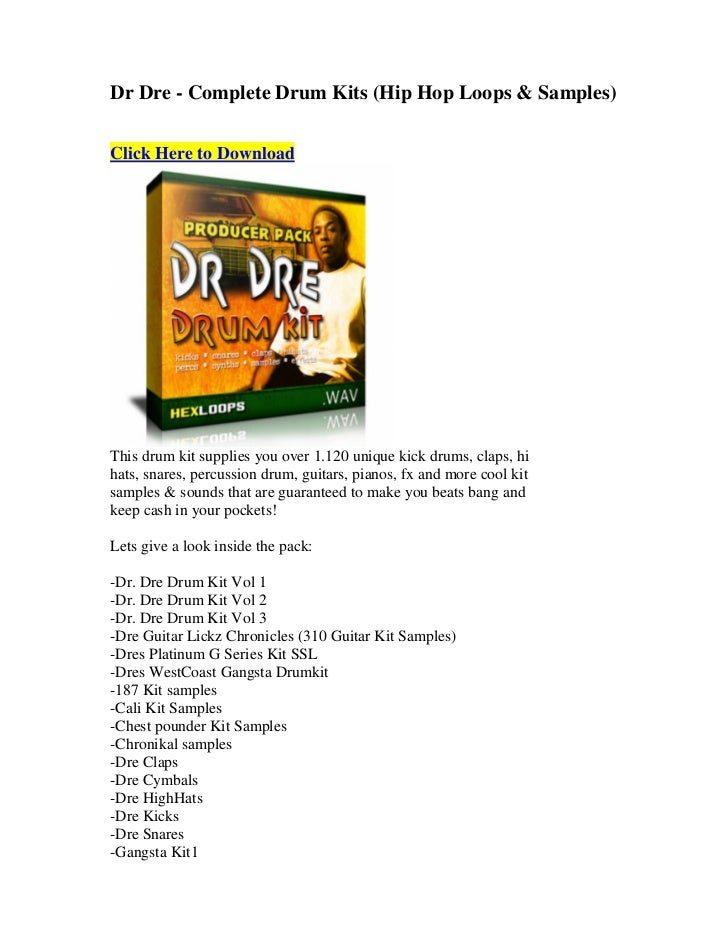 Dr dre complete drum kits (hip hop loops & samples)