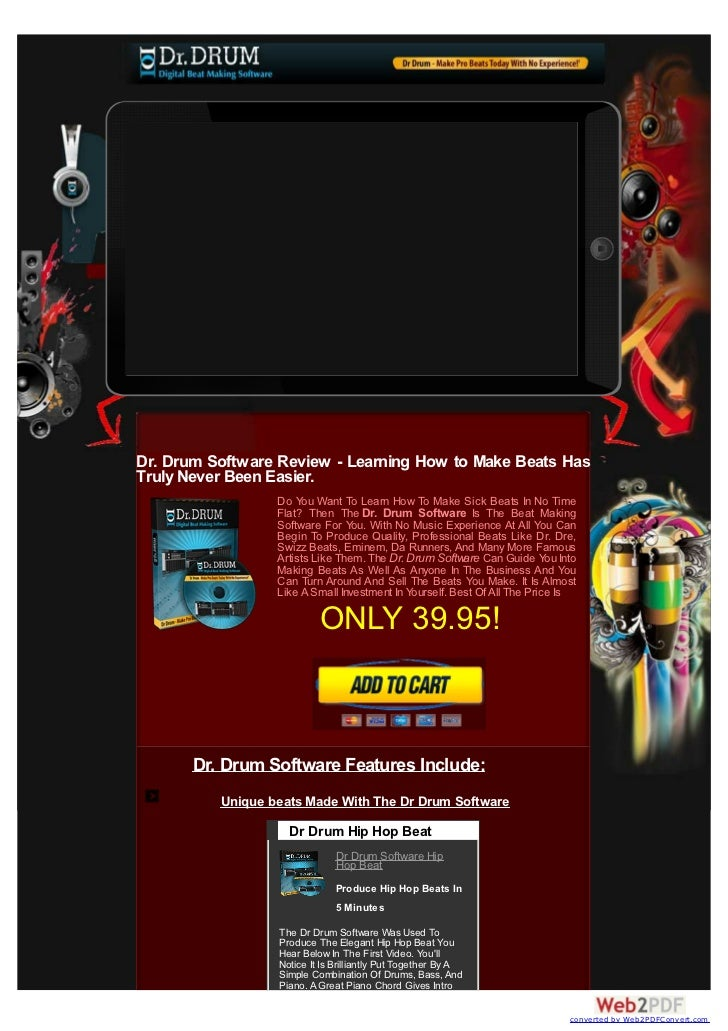 Dr. Drum Software Review - Learning How to Make Beats HasTruly Never Been Easier.                  Do You Want To Learn Ho...
