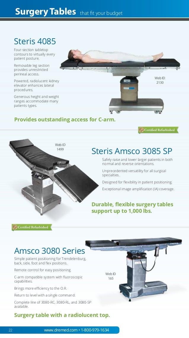 DRE New & Refurbished Medical Equipment 2014 Catalog