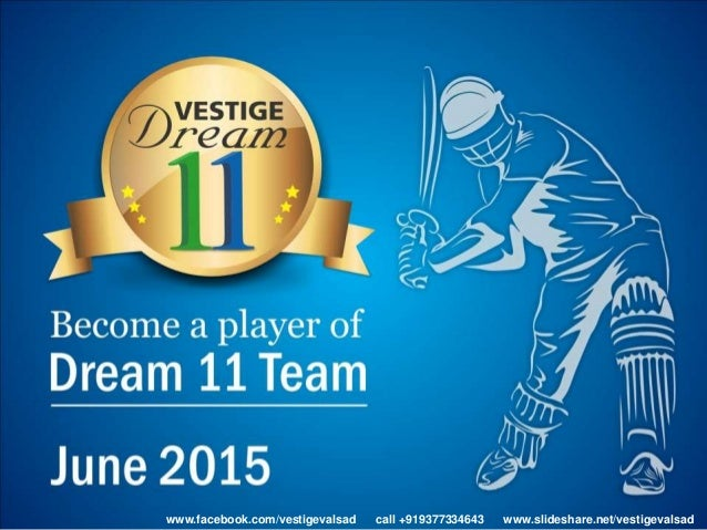 Vestige Dream 11 Year Presentation