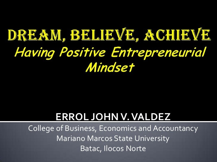 ERROL JOHN V. VALDEZCollege of Business, Economics and Accountancy        Mariano Marcos State University               Ba...