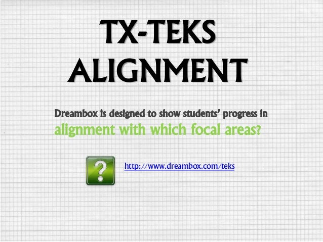 TX-TEKS ALIGNMENT http://www.dreambox.com/teks alignment with which focal areas?