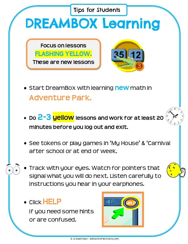 Dreambox Student Learning Tip Sheet
