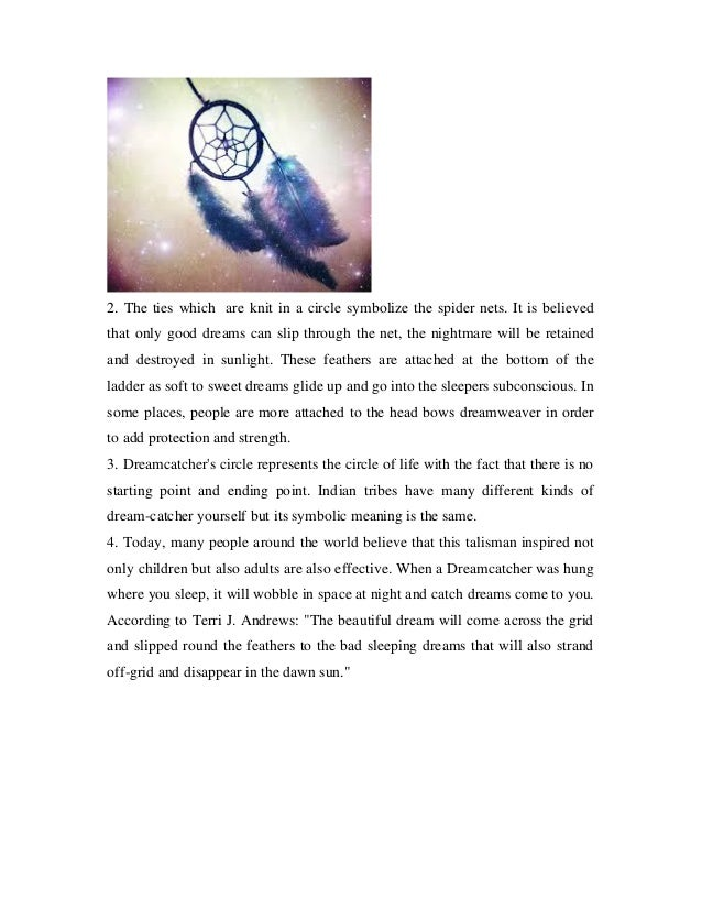 Dream Catcher Significance Dreamcatcher meaning 19