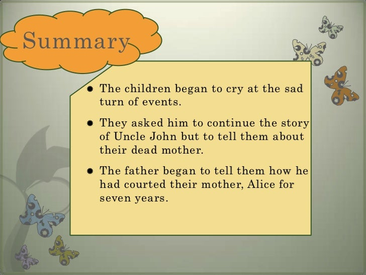 summary of dream children