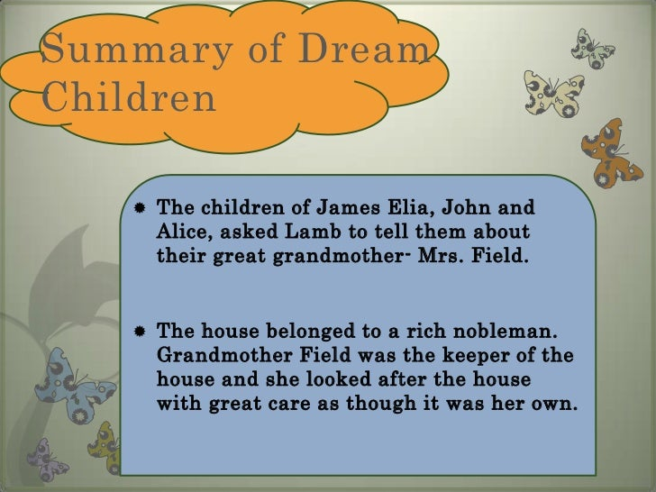 Dreams of the child essay