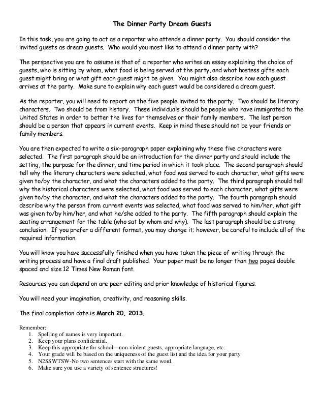 Bombeck essays dinner party no homework teacher rewards slips