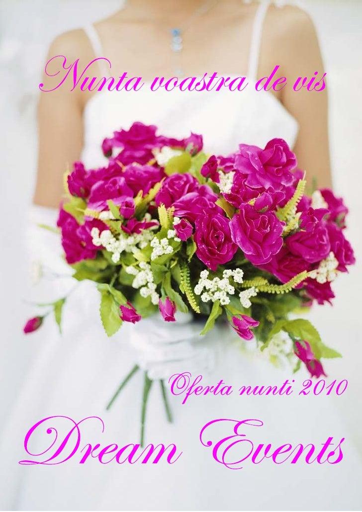 Dream Events oferta nunti 2010