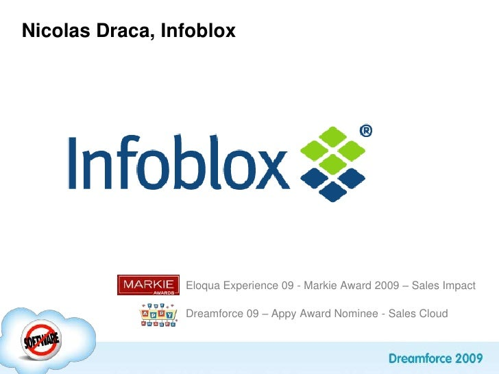 Top challenges solved with Marketing AutomationNicolas DracaNovember 2009<br />Eloqua Experience 09 - Markie Award 2009 – ...