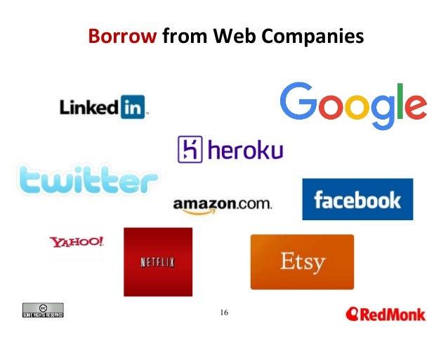 16 Borrow from Web Companies